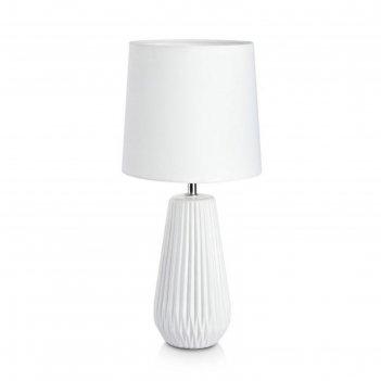 Настольная лампа nicci 1x40вт e14 белый