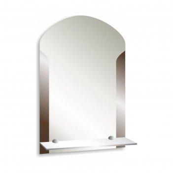 Зеркало «лайм», настенное, с полочкой, 39x58 см