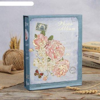 Фотоальбом магнитный 20 листов королевские пионы в коробке микс 26,5х20,5х