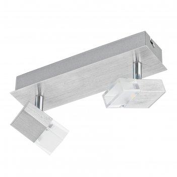 Светильник gemini 2x5,4вт led белый 25x10см
