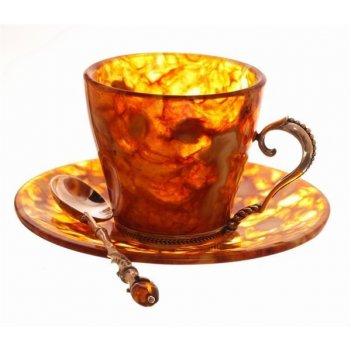 Набор для кофе из янтаря