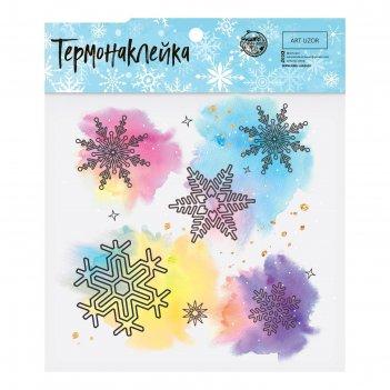 Термонаклейка «снежинки», 15 x 15 см