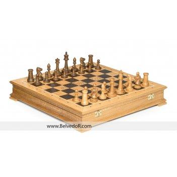 Шахматы стаунтон бук, 44х44см