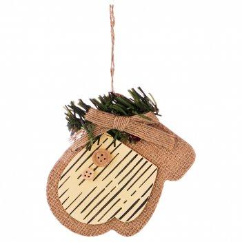 Декоративное изделие подвеска варежка 8,5*11*0,5 см  без упаковки (мал-36
