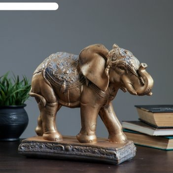Фигура слон средний бронза/серебро 31х12х27см
