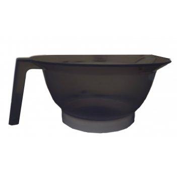 Чаша д/окр с ручкой и носиком черная прозрачная, 300 мл