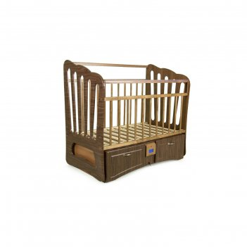 Детская автоматическая кроватка укачай-ка 06 валенсия, орех с матрасом мил