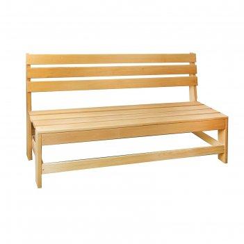 Скамейка нераскладная, полок 140*55*90см