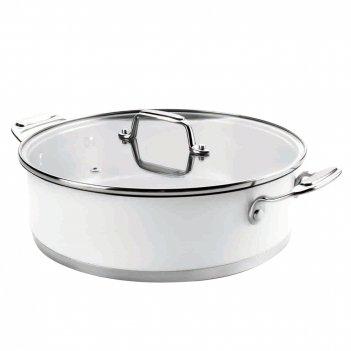 Сотейник с крышкой 4,7 л, диам. 28 см, серия cookware white,