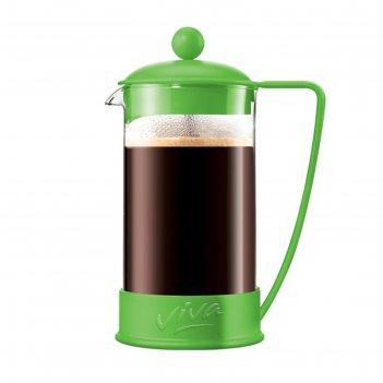 Френч пресс 600 мл ля кафе цвет зелёный