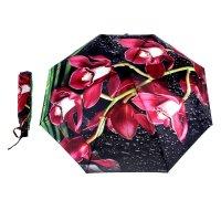 Зонт женский flioraj орхидея, 3 сложения, суперавтомат, сатин