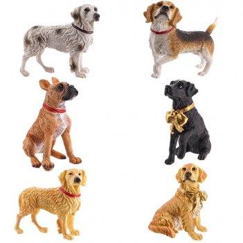 Фигурка декоративная собака, h6 см, 6 в. (без инд.упаковки)