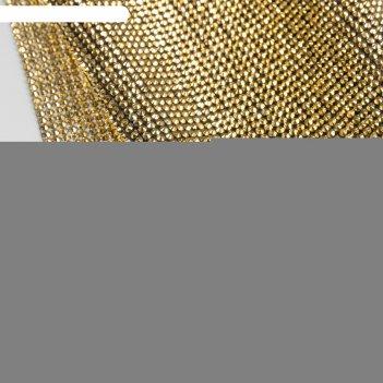 Стразы термоклеевые d3мм 40*24см золотой