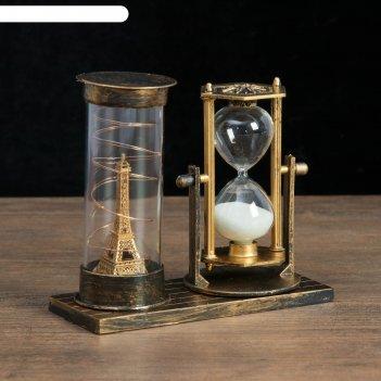 Часы песочные достопримечательности франции, 15.5х6.5х16 см, микс