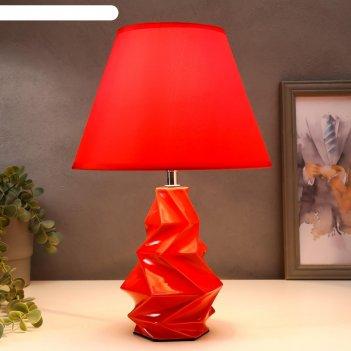 Лампа настольная 16028/1rd e14 40вт красный мрамор 24,5х24,5х37 см