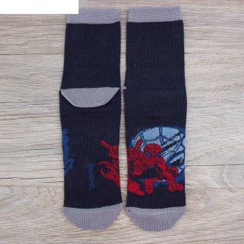 Носки  детские герой человек-паук, марвел 16-18 см, 4-6 лет., 80% хл.,17%