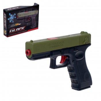 Пистолет механический glock, стреляет гелевыми пулями