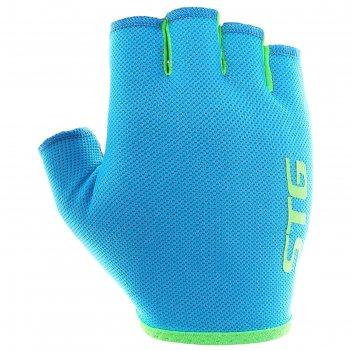 Перчатки велосипедные stg al-03-418, размер xs, цвет голубые-салатовые