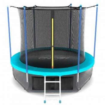 Батут с внутренней сеткой и лестницей evo jump internal 10ft wave, 305 см,