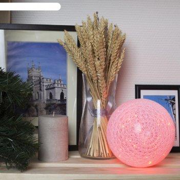 Фигура шар плетеный 15 см, 50 led, 12v, нить белая, адаптер в комплекте, к