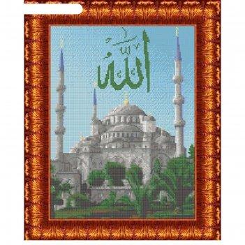 Канва с нанесенным рисунком для вышивки крестом голубая мечеть