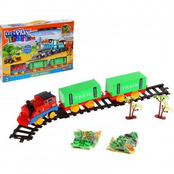 Железная дорога, работает от батареек, микс