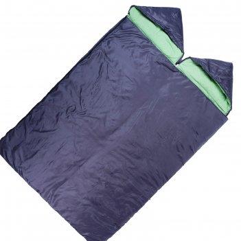 Спальный мешок maclay 3-х слойный, с капюшоном, увеличенный 225 х140 см