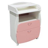 Пеленальный комод, 2 выдвижных ящика, цвет розовый
