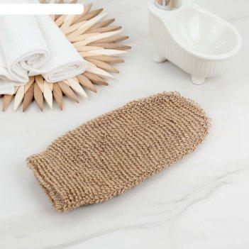 Мочалка-варежка массажная 24х11,5 см