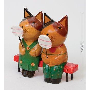 28-034 статуэтка кот и кошка