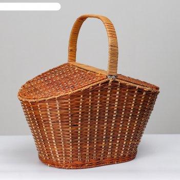 Корзина для пикника  с крышкой , 42х28 н27/46 см
