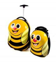"""Набор дорожный """"пчелка"""": рюкзак, чемодан 33*24*7см, 41*28*24см"""