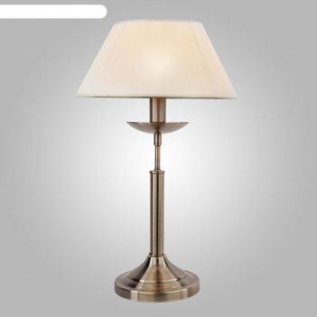Настольная лампа hotel 1x40вт е14 бронза 28x28x45см