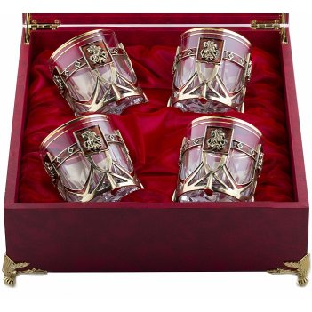 Бокалы для виски георгий победоносец 4 шт в футляре бумвинил