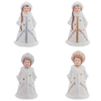 Фигурка декоративная с подсветкой снегурочка, 6,5х6х11,5 с...