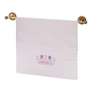 Полотенце махровое хрюшки 70х140см , 100% хлопок,розовый