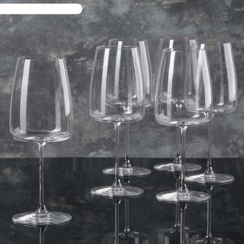 Набор бокалов для вина 670 мл lord, 6 шт