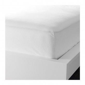 Простыня на резинке фэргмора, размер 180х200 см, цвет белый