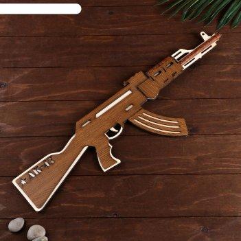 Сувенирное оружие автомат ак-47 большой, собранный 64x20 см