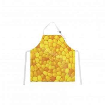 Фартук кукурузная мозайка, размер 68х65 см, оксфорд