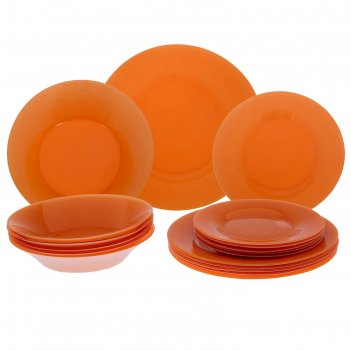 Столовый сервиз 18 предметов уоркшоп оранж виладж
