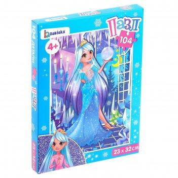 Пазл снежная принцесса, 104 элемента