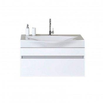 Комплект мебели aqwella bergamo 100 подвесной, тумба с раковиной bergamo 1