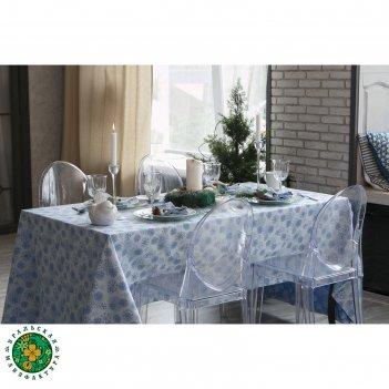 Столовый набор этель снежинки синие скатерть 110х160 см, салф. 40х40 см -