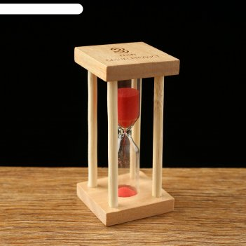 Часы песочные основание квадрат 3 минуты, микс 8,5х4,2х4,2 см