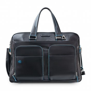 Сумка мужская для ноутбука piquadro blue square, черная