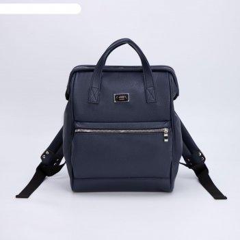 Сумка-рюкзак, отдел на молнии, наружный карман, цвет синий