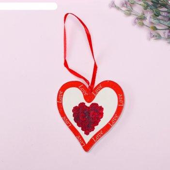 Подвеска декор сердце букет