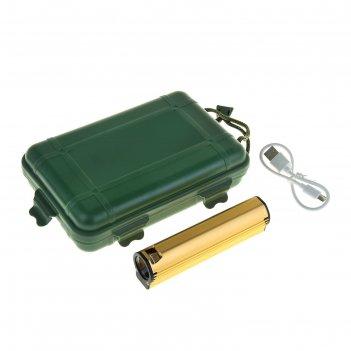 Фонарик-зажигалка 1 диод,3 режима (usb)