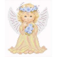 """""""ангел с розами"""" рисунок для вышивания бисером"""